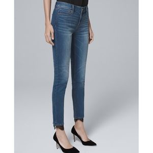 Lace Hem Skinny Ankle Jean Whitehouse Black Market